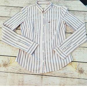 Hollister Pink Pinstripe Button Down Shirt